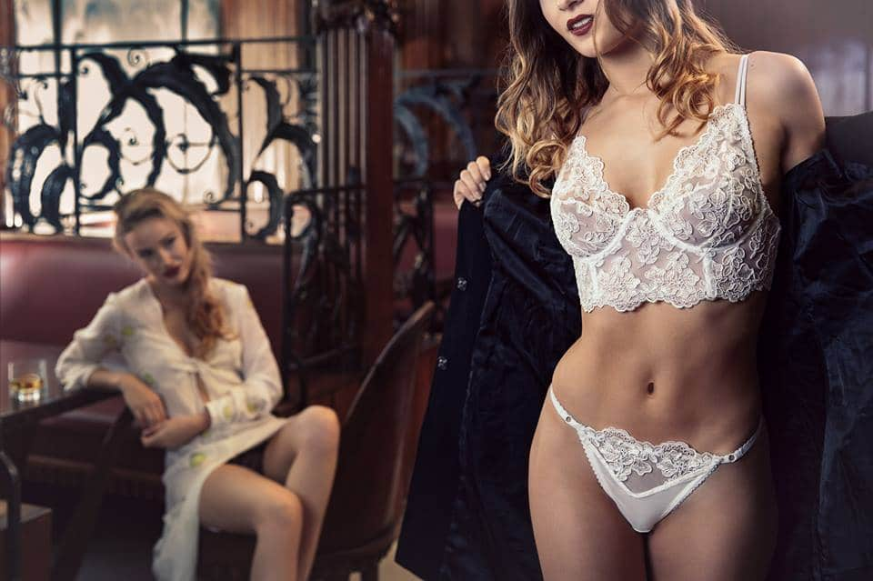 Bespoke white lingerie set editorial perfect for wedding