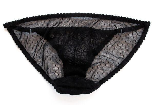Black see thru panties low waist