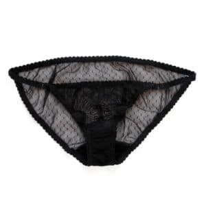 Sheer black lace panties