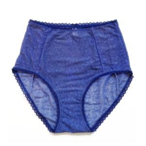 High waist panties in blue jersey comfortable and pretty