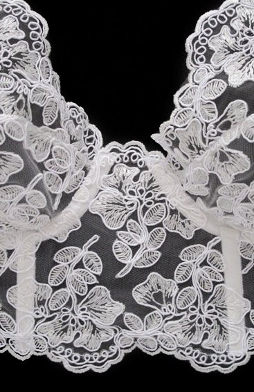 longline lace bra in calais lace bra for bride details