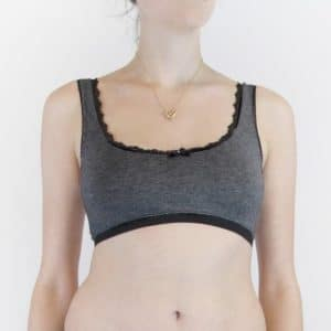 Loungewear bralette in comfortable grey jersey