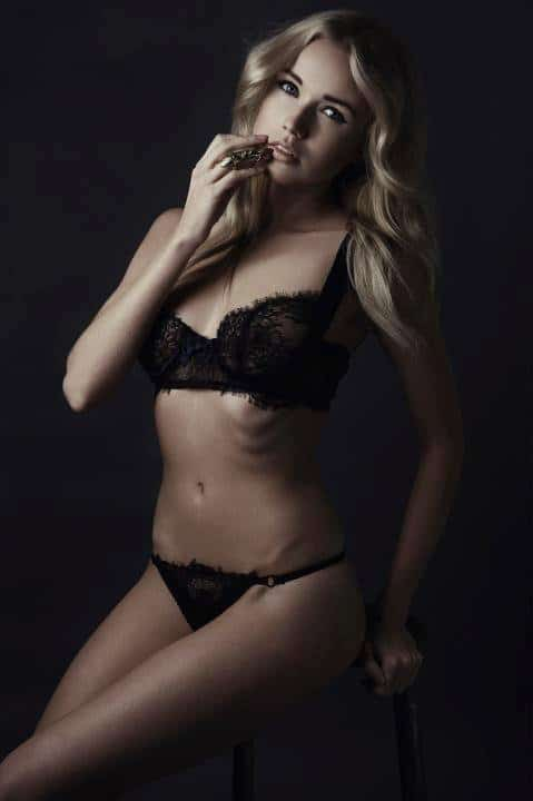 black lace lingerie set bespoke from france