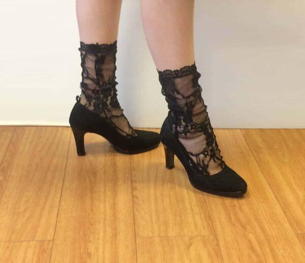 Fashion lace socks and high heels