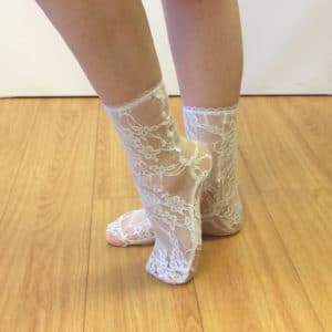 fashionable lace socks white lace