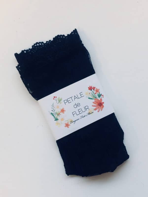 lace black socks packed