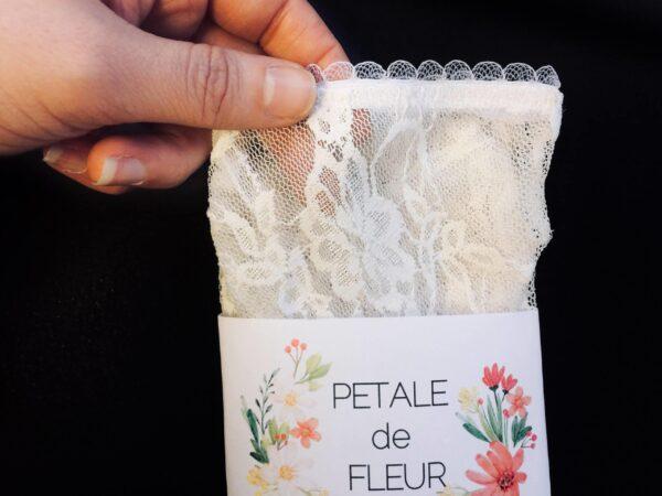 Sheer white see through socks in packaging