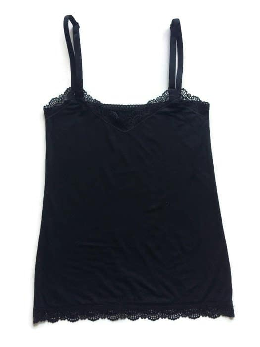 Loungewear comfortable cotton camisole made in stretch jersey and lace edging details 2