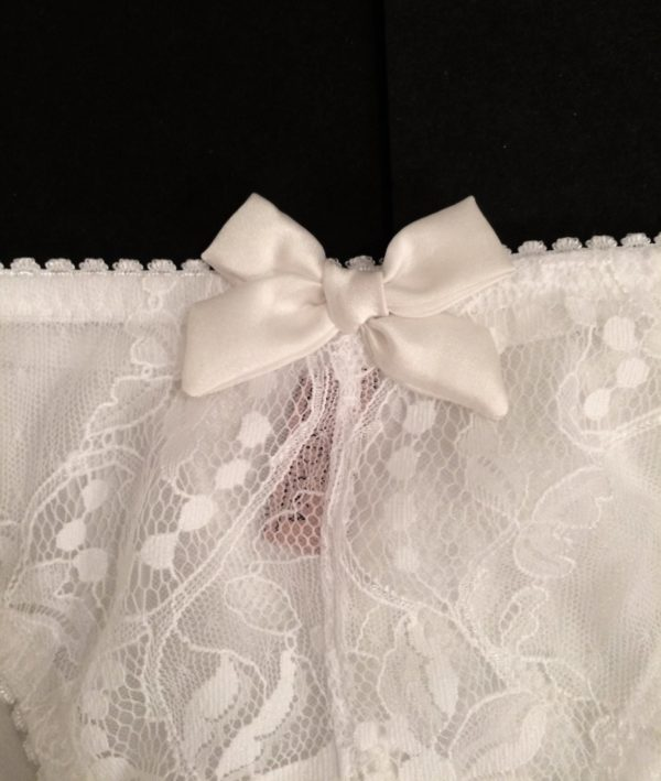 see through panties ivory bow for bride
