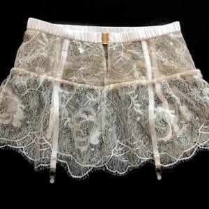 Sexy Lace garter belt suspender back