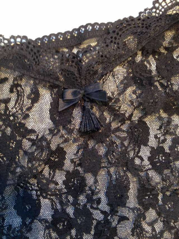 Sheer lace camisole bow details