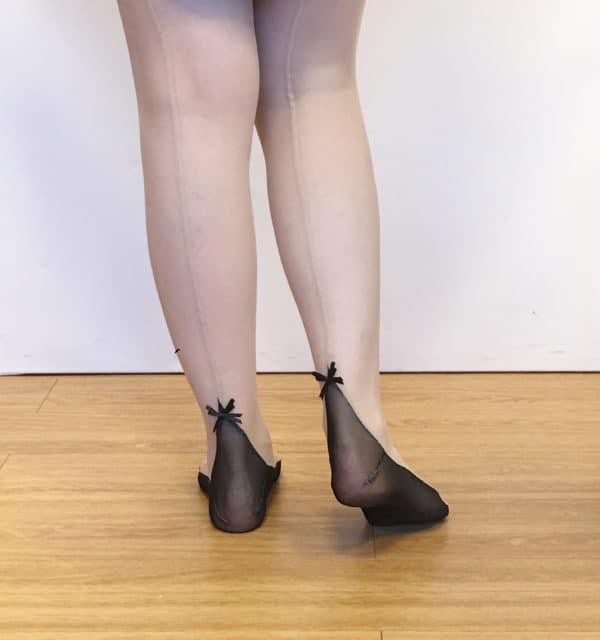 Sheer nude stockings