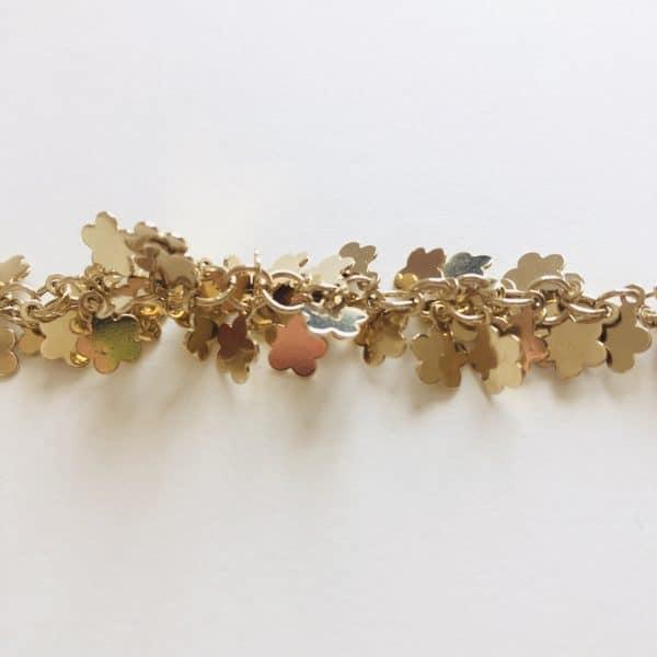 Gold flower chain 23K