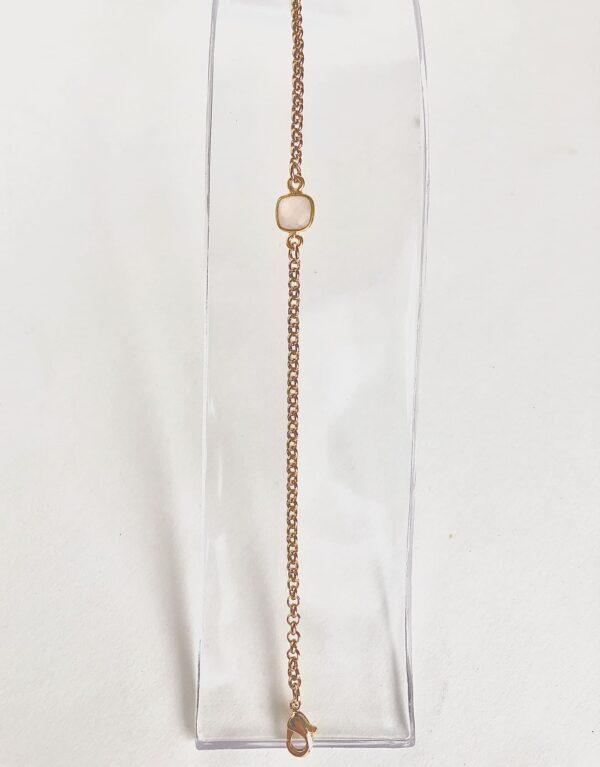 semi precious jewelry bracelet in gold