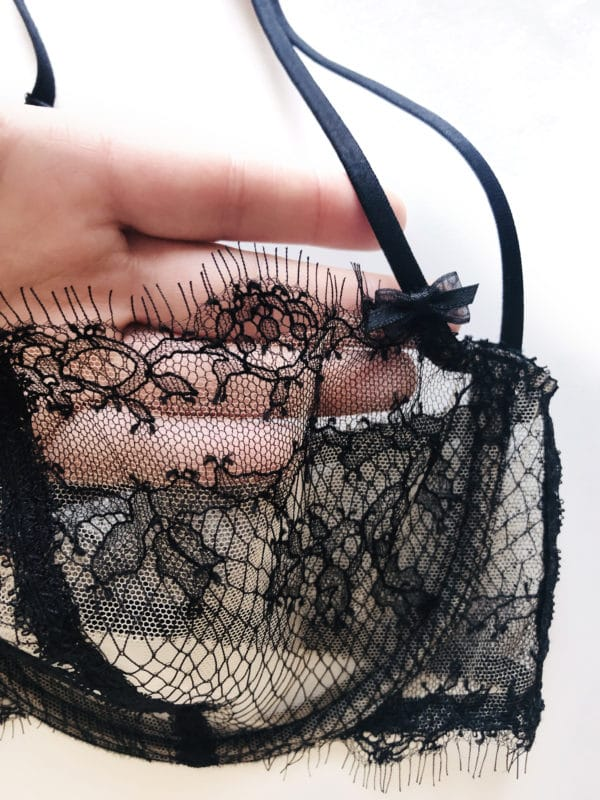 sheer lace bra in chantilly lace