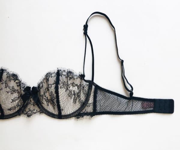 sheer lace bra closure