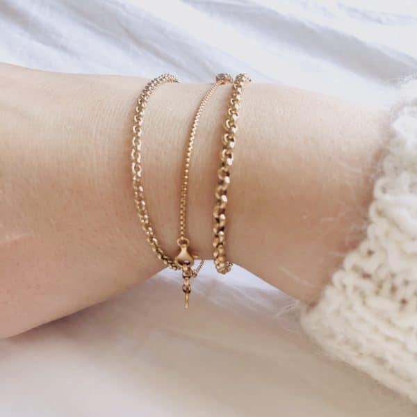 mix and match gold bracelet