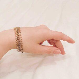 Bracelet-chain-fancy-gold-23k