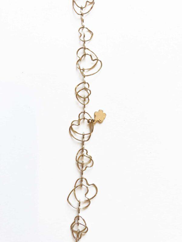 gold bracelet love shape heart