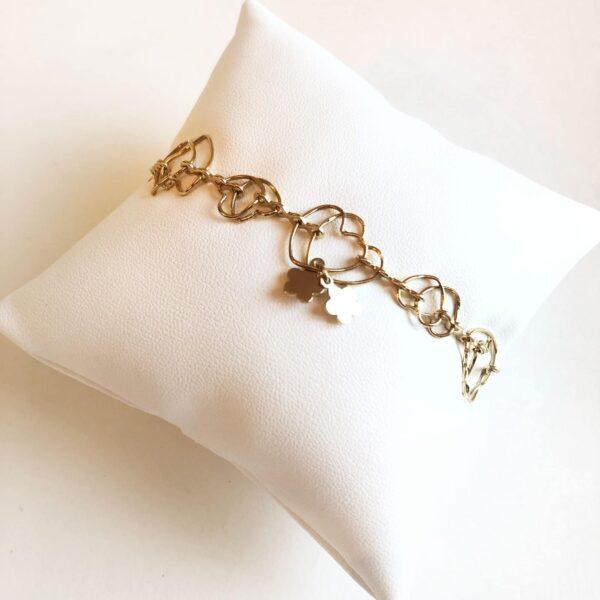 gold bracelet love shape heart high end