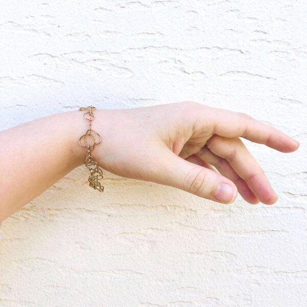 gold bracelet heart shape quality