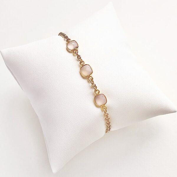 gold bracelet fine jewellery with semi precious stone