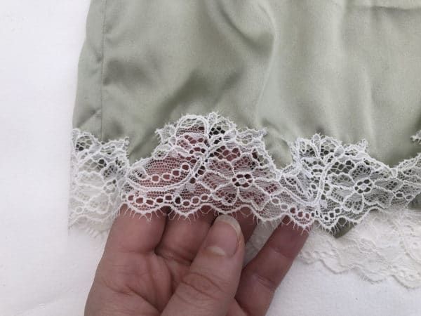 Silk and lace boyshort details