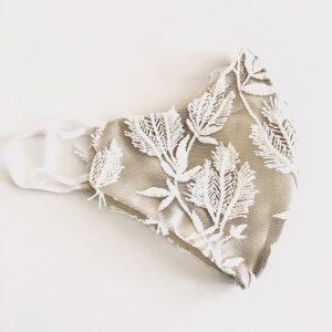 White bridal facemask