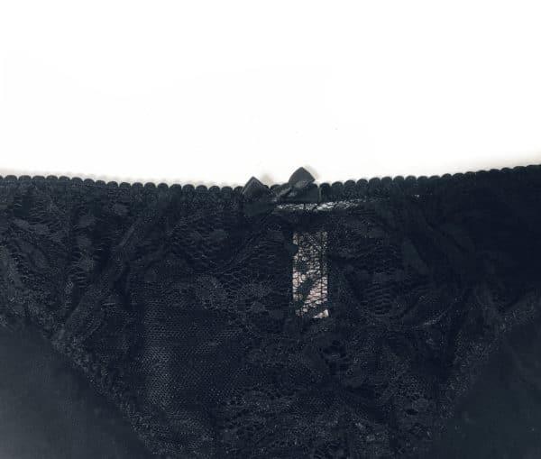 front details of the sheer black women underwear