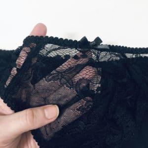 details of the sheer black women underwear