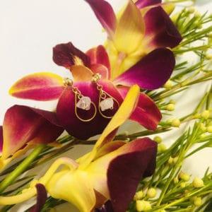small gold pendant earrings